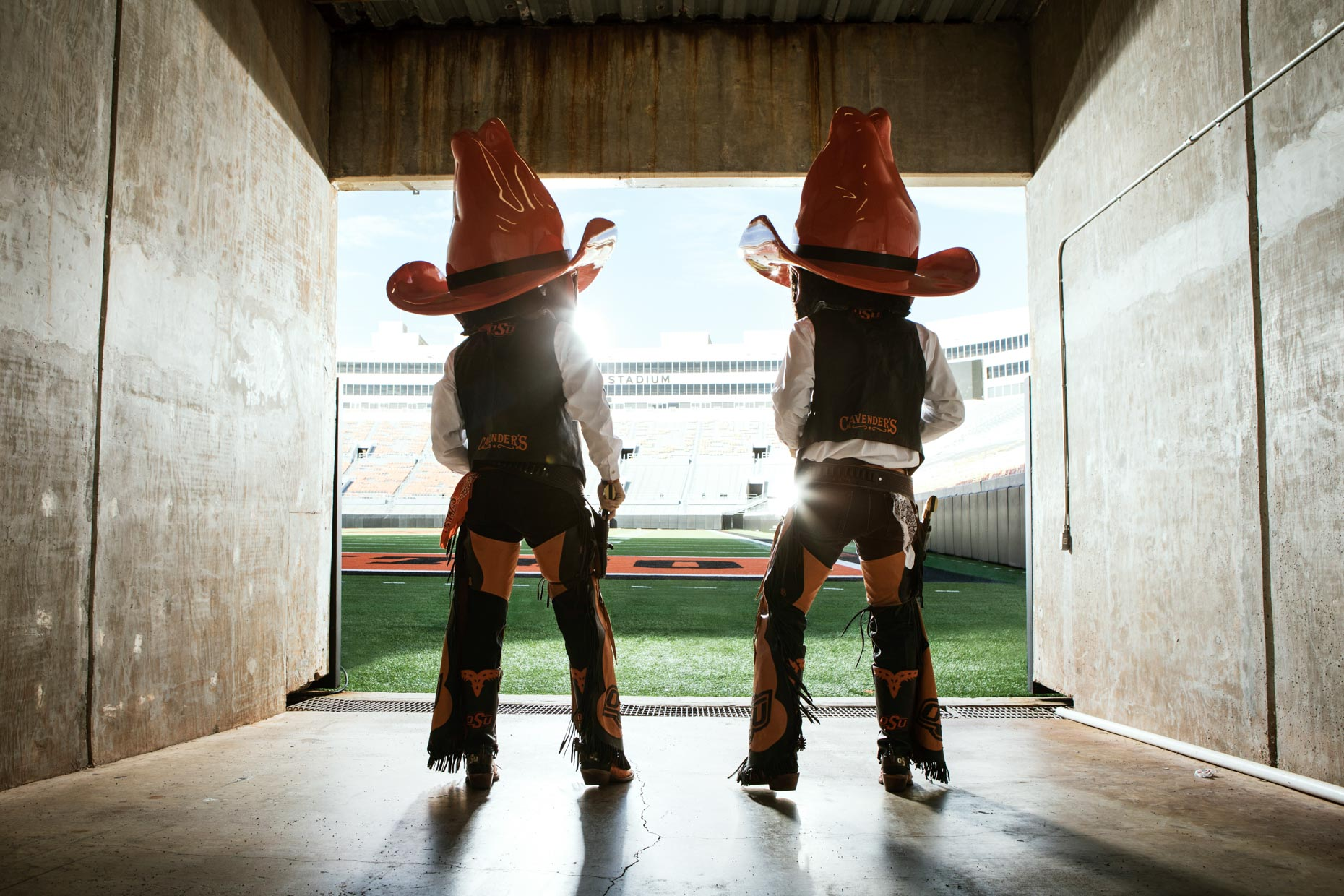 Taylor Collins and Austin Johnson as Pistol Pete
